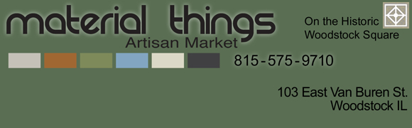This is an ad and a link for  			Material Things Artisan Market - click here to visit the Material  			Things Artisan Market Web Site.